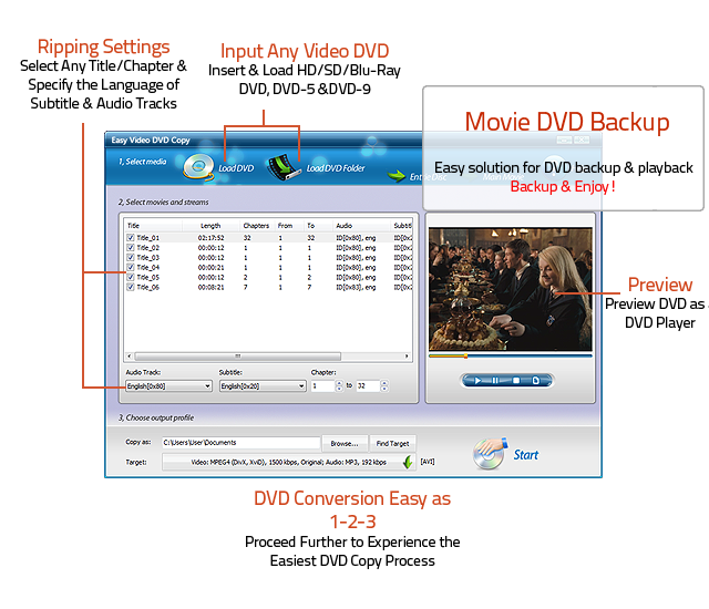easy video dvd copy copy amp rip your dvd to hard drive