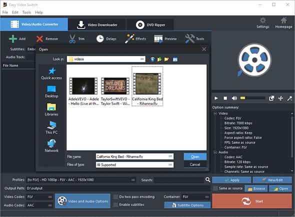Input Video Files