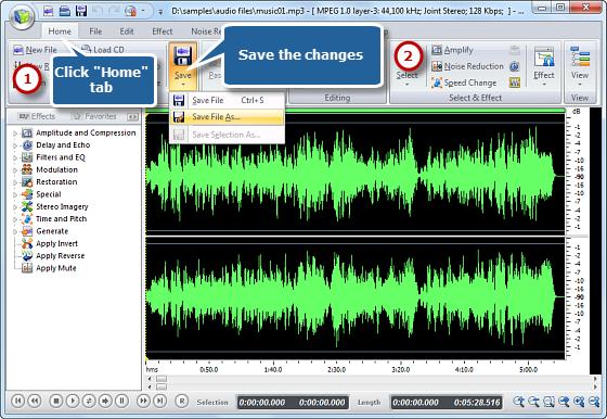 Adjust Recording Settings