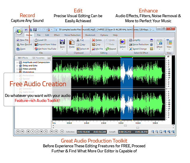 Free Audio Editor - Easy-to-use free audio editor software and music