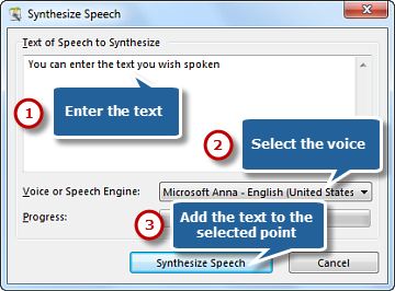 Input Text & Synthesize Text to Audio