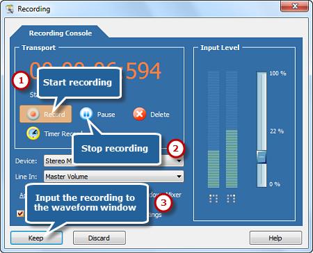Begin Recording