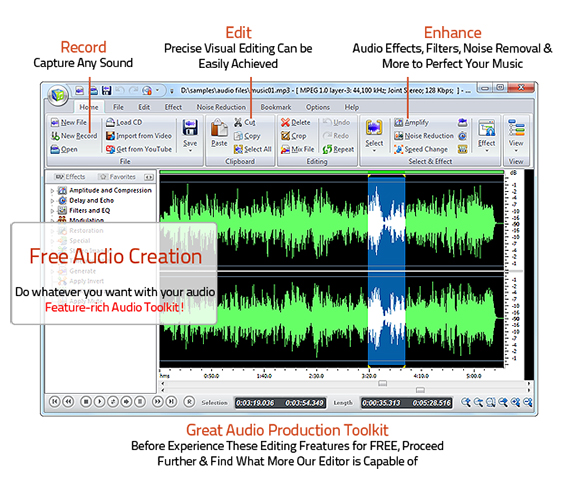 Top 5 Free Audio Editor 2019 for Windows - [OFFICIAL] Free