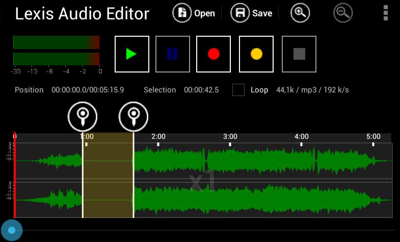 Lexis Audio Editor